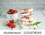 healthy frozen yogurt barks... | Shutterstock . vector #1131078245
