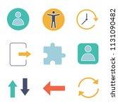ui ux glyph color icons set....