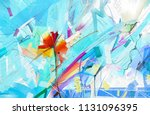abstract colorful oil painting... | Shutterstock . vector #1131096395