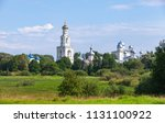 rural russian landscape with... | Shutterstock . vector #1131100922