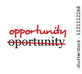 """""""opportunity"""" text crossed out... 