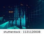 futuristic chart graphic... | Shutterstock . vector #1131120038