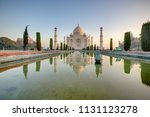 taj mahal at the sunrise  arga  ... | Shutterstock . vector #1131123278