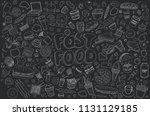 set of vector illustration... | Shutterstock .eps vector #1131129185