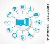 technology icon    computer... | Shutterstock .eps vector #1131130856