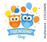 happy friendship day  holiday...   Shutterstock .eps vector #1131134696