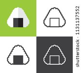 rice ball icons | Shutterstock .eps vector #1131137552