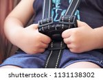 safety belt in the baby...   Shutterstock . vector #1131138302
