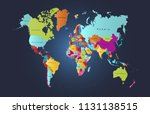 color world map vector | Shutterstock .eps vector #1131138515
