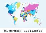 color world map vector | Shutterstock .eps vector #1131138518