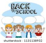 back to school | Shutterstock .eps vector #1131138932