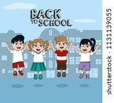 back to school | Shutterstock .eps vector #1131139055