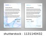 letterhead template  business... | Shutterstock .eps vector #1131140432