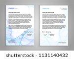 letterhead template  printable... | Shutterstock .eps vector #1131140432