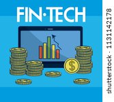 financial technology concept | Shutterstock .eps vector #1131142178