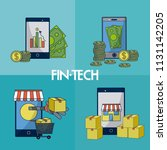 financial technology square... | Shutterstock .eps vector #1131142205