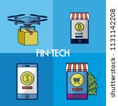 financial technology square... | Shutterstock .eps vector #1131142208