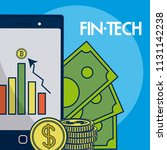 financial technology concept | Shutterstock .eps vector #1131142238