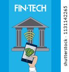 financial technology concept | Shutterstock .eps vector #1131142265