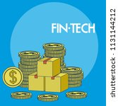 financial technology concept | Shutterstock .eps vector #1131144212