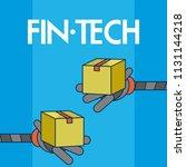 financial technology concept   Shutterstock .eps vector #1131144218