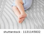 feet baby. the concept of... | Shutterstock . vector #1131145832