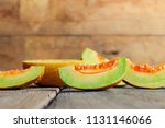 slice of thai melons or... | Shutterstock . vector #1131146066