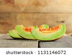 slice of thai melons or... | Shutterstock . vector #1131146072