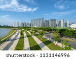 high rise building on the... | Shutterstock . vector #1131146996