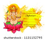 happy ganesh chaturthi with... | Shutterstock .eps vector #1131152795