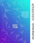 trendy report template. global... | Shutterstock .eps vector #1131153125
