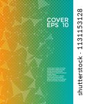 trendy cover page layout.... | Shutterstock .eps vector #1131153128