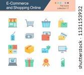 e commerce and shopping online... | Shutterstock .eps vector #1131153932