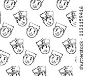 grunge happy policeman and man... | Shutterstock .eps vector #1131159416