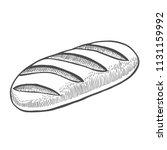 Baguette Vector Sketch Icon...