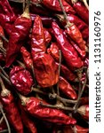 bunch of red chili peppers... | Shutterstock . vector #1131160976