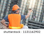 young asian engineer holding... | Shutterstock . vector #1131162902