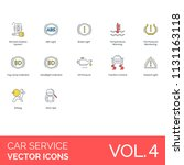 car service modern icon set.... | Shutterstock .eps vector #1131163118