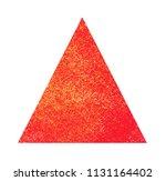 watercolor golden triangle on... | Shutterstock . vector #1131164402