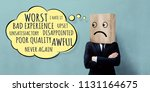 customer experience concept.... | Shutterstock . vector #1131164675