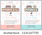 set of baby shower invitation... | Shutterstock .eps vector #1131167735