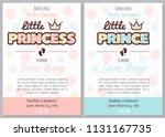 set of baby shower invitation... | Shutterstock .eps vector #1131167735