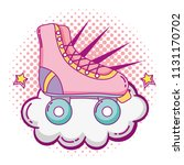 roller skate style with cloud... | Shutterstock .eps vector #1131170702