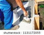 industrial worker on... | Shutterstock . vector #1131172055