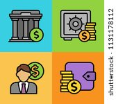 set of business and finance... | Shutterstock .eps vector #1131178112