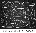 hand drawn arrows big set.... | Shutterstock .eps vector #1131180968