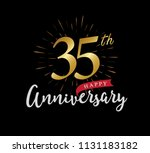35 years gold anniversary... | Shutterstock .eps vector #1131183182