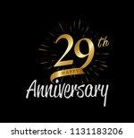 29 years gold anniversary... | Shutterstock .eps vector #1131183206