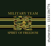 military team camouflage... | Shutterstock .eps vector #1131186776