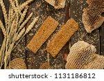 pasteli greek honey sesame bars | Shutterstock . vector #1131186812